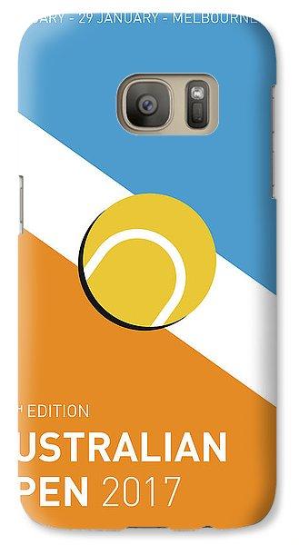 My Grand Slam 01 Australian Open 2017 Minimal Poster Galaxy S7 Case by Chungkong Art