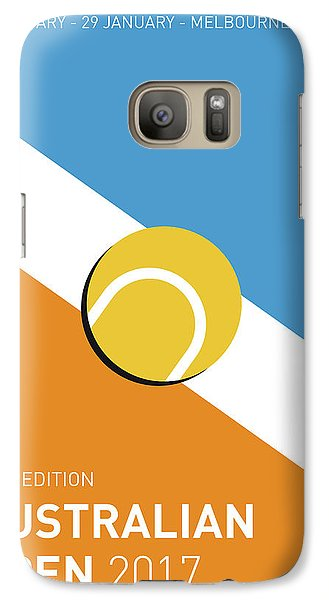 My Grand Slam 01 Australian Open 2017 Minimal Poster Galaxy Case by Chungkong Art
