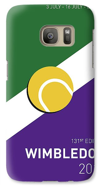 My Grand Slam 03 Wimbeldon Open 2017 Minimal Poster Galaxy S7 Case