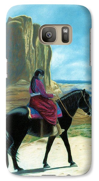 Galaxy Case featuring the pastel My Grandfather's Pony by Jan Amiss