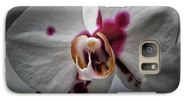 Galaxy Case featuring the photograph My Growling Dragon Orchid. by Karen Stahlros