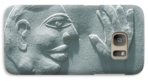 Galaxy Case featuring the relief My Hand by Suhas Tavkar