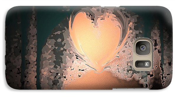 Galaxy Case featuring the photograph My Heart Is On The Moon by Lenore Senior