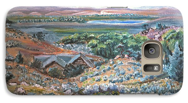 Galaxy Case featuring the painting My Home Looking West by Dawn Senior-Trask