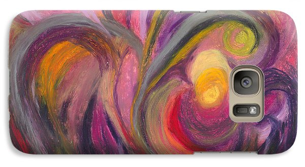 Galaxy Case featuring the painting My Joy by Ania M Milo