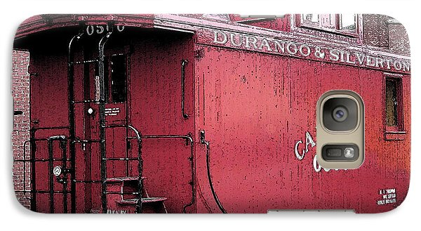 Galaxy Case featuring the digital art My Little Red Caboose by Gary Baird