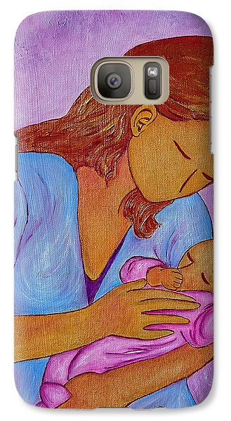 Galaxy Case featuring the painting My Little Sweetness by Gioia Albano