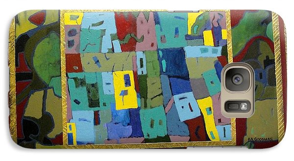 Galaxy Case featuring the painting My Little Town by Bernard Goodman
