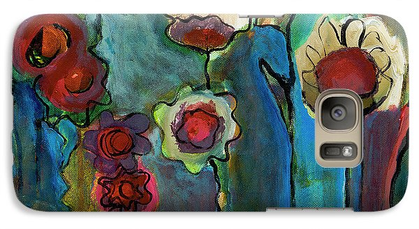 Galaxy Case featuring the painting My Mother's Garden by Susan Stone