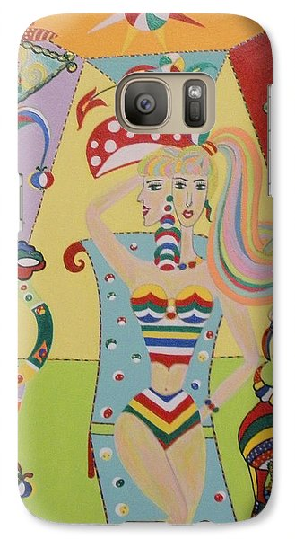 Galaxy Case featuring the painting My Name Is Jesica by Marie Schwarzer