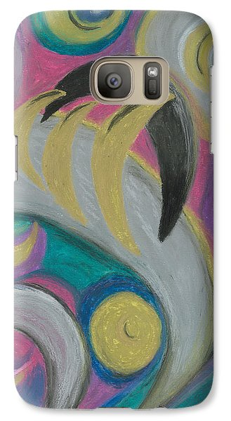Galaxy Case featuring the painting My New Universe by Ania M Milo