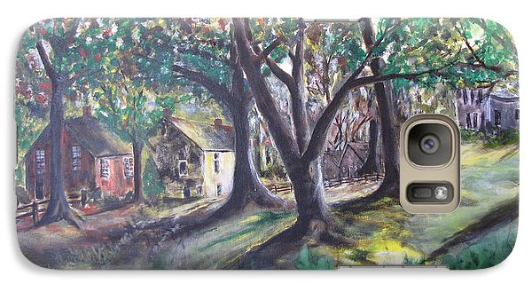 Galaxy Case featuring the painting My Old Southern Plantation Home by Gary Smith