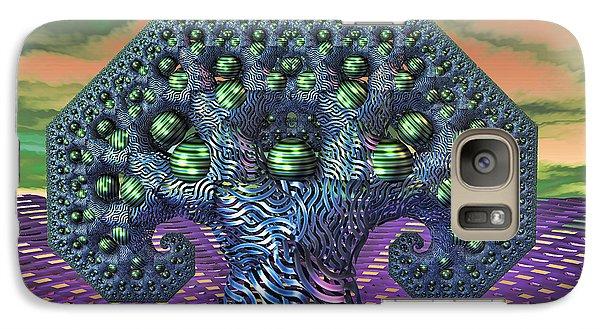 Galaxy Case featuring the digital art My Pythagoras Tree by Manny Lorenzo