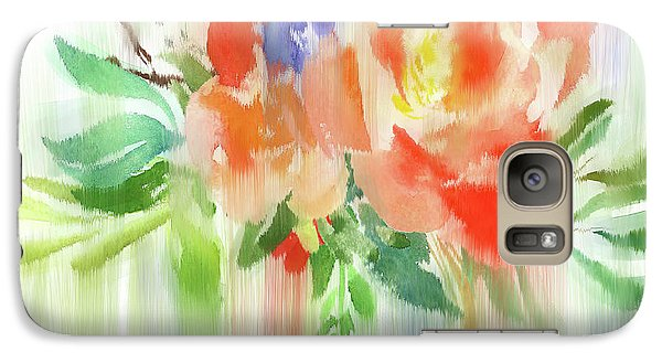 Galaxy Case featuring the painting My Roses Gently Weep by Colleen Taylor