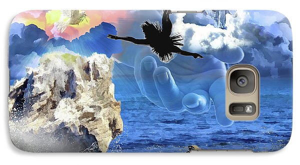 Galaxy Case featuring the digital art My Savior by Dolores Develde