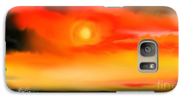 Galaxy Case featuring the painting My Soul by Lori  Lovetere
