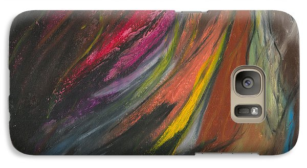 Galaxy Case featuring the painting My Soul On Fire by Ania M Milo