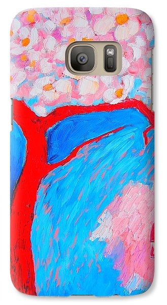 Galaxy Case featuring the painting My Spring by Ana Maria Edulescu