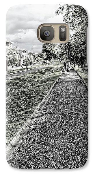 Galaxy Case featuring the photograph My Street II by Al Bourassa