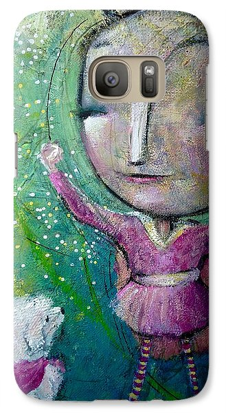 Galaxy Case featuring the painting My Super Powers  by Eleatta Diver