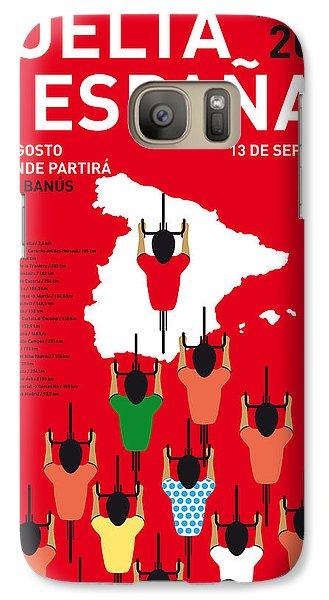 My Vuelta A Espana Minimal Poster Etapas 2015 Galaxy S7 Case by Chungkong Art