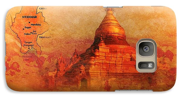 Galaxy Case featuring the digital art Myanmar Temple Kutho Daw Pagoda by John Wills