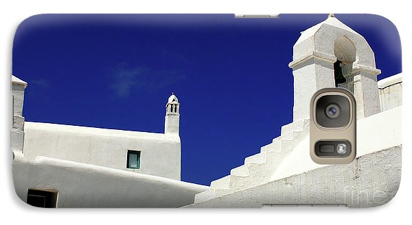 Galaxy Case featuring the photograph Mykonos Greece Architectual Line 5 by Bob Christopher