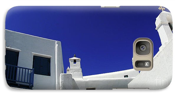 Galaxy Case featuring the photograph Mykonos Greece Clean Line Architecture by Bob Christopher