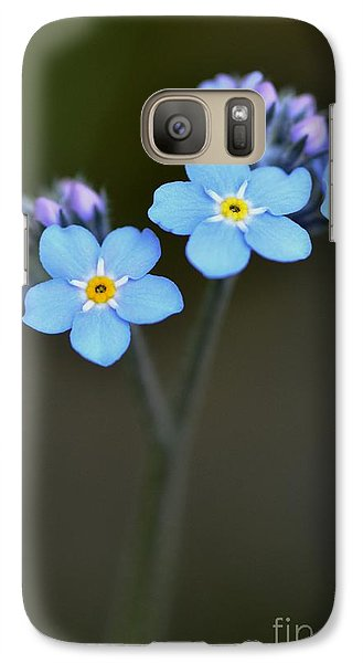 Galaxy Case featuring the photograph Myosotis by Sylvie Leandre