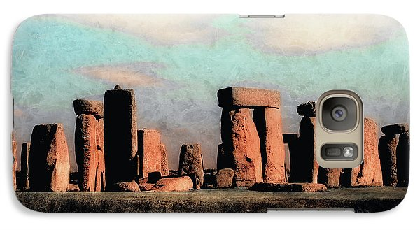 Galaxy Case featuring the photograph Mysterious Stonehenge by Jim Hill