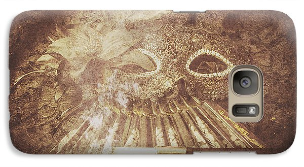Galaxy Case featuring the photograph Mysterious Vintage Masquerade by Jorgo Photography - Wall Art Gallery