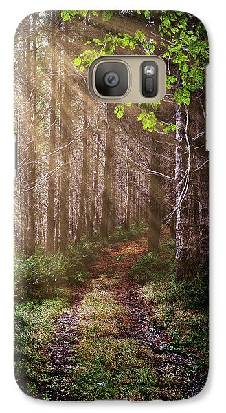 Galaxy Case featuring the photograph Mystery At Dawn by Debra and Dave Vanderlaan