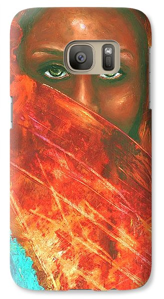 Galaxy Case featuring the painting Mystery Behind The Veil by Alga Washington