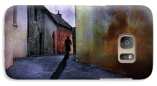 Galaxy Case featuring the mixed media Mystery Corner by Jim  Hatch