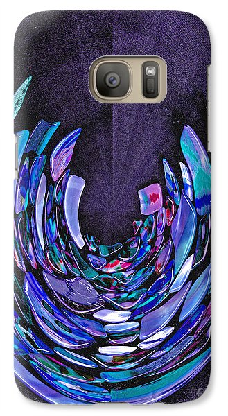 Galaxy Case featuring the photograph Mystery In Blue And Purple by Nareeta Martin