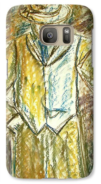 Galaxy Case featuring the painting Mystery Man by Cathie Richardson