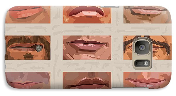 Mystery Mouths Of The Action Genre Galaxy S7 Case by Mitch Frey