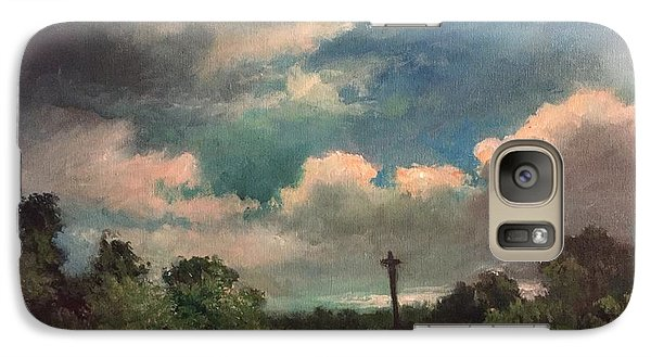 Galaxy Case featuring the painting Mystery Of God  The Eye Of God by Randol Burns