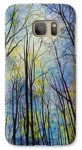 Galaxy Case featuring the painting Mystic Forest by Hailey E Herrera