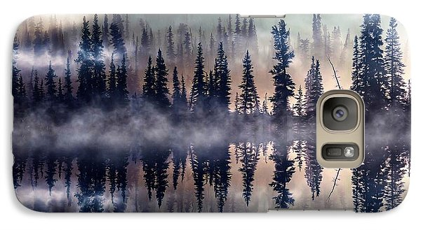 Galaxy Case featuring the mixed media Mystic Lake by Gabriella Weninger - David