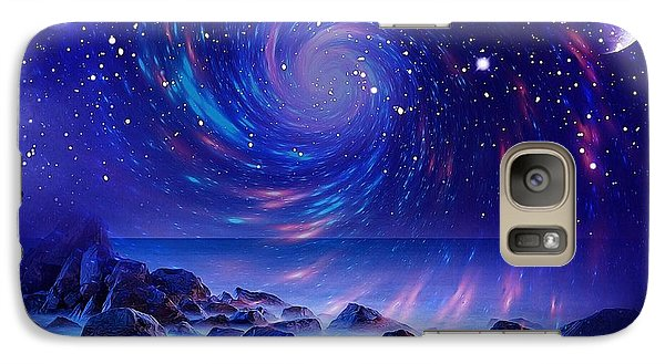 Galaxy Case featuring the mixed media Mystic Lights by Gabriella Weninger - David