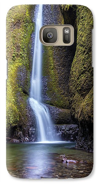 Galaxy Case featuring the photograph Mystical Oneonta Falls by Pierre Leclerc Photography