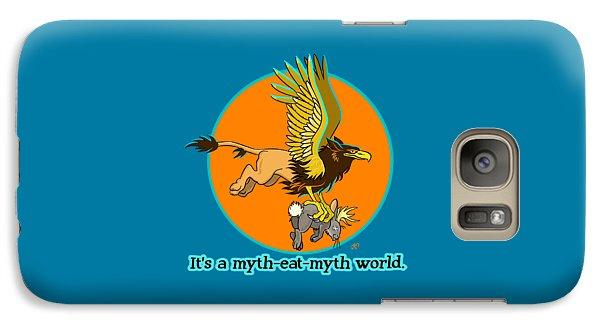 Galaxy Case featuring the digital art Mythhunter by J L Meadows