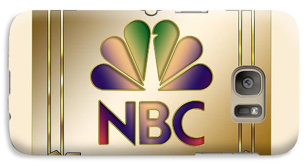 Galaxy Case featuring the digital art N B C Logo - Art Deco by Chuck Staley