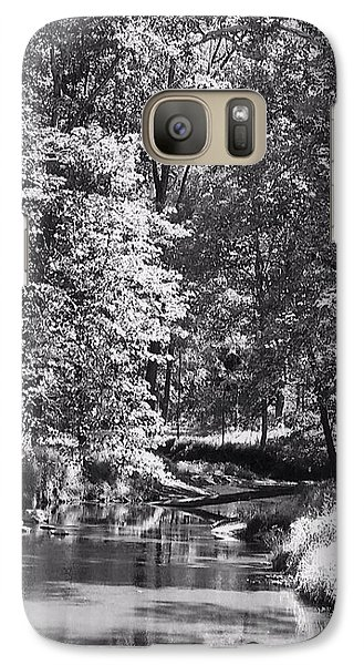 Galaxy Case featuring the photograph Nadine's Creek In Black And White by Kathy Kelly
