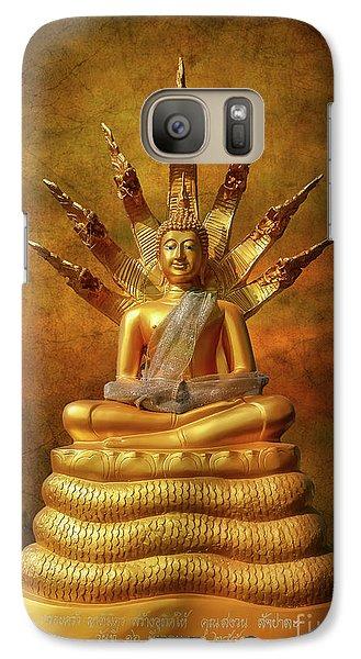 Galaxy Case featuring the photograph Naga Buddha by Adrian Evans