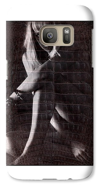 Galaxy Case featuring the photograph Naked Girl Hiding by Michael Edwards