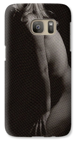 Galaxy Case featuring the photograph Naked Girl In Studio by Michael Edwards