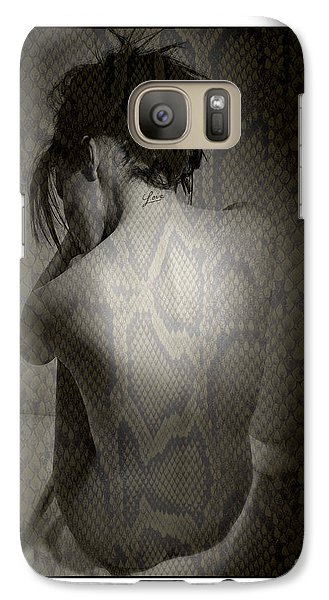 Galaxy Case featuring the photograph Naked Woman by Michael Edwards