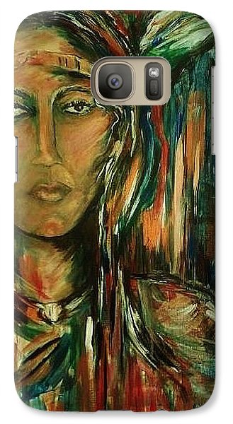 Galaxy Case featuring the painting Nancy Ward Beloved Woman Nanye by Dawn Fisher